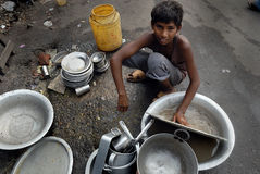 Child Labour in India Royalty Free Stock Images
