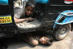 Child Labour In India. Royalty Free Stock Photo