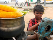 Child labour in India. Is still a big problem and is being hardly addressed by the Indian Government. Till date millions of children have to work without pay in Royalty Free Stock Photos