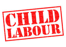 CHILD LABOUR. Red Rubber Stamp over a white background Royalty Free Stock Photo