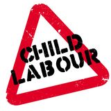 Child Labour rubber stamp Stock Photo