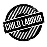 Child Labour rubber stamp Stock Images
