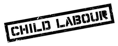 Child Labour rubber stamp Stock Photography
