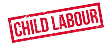 Child Labour rubber stamp Royalty Free Stock Photos