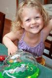 Child with ladybugs. Stock Photos