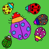 Child ladybugs Royalty Free Stock Photos