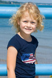 Child at the lake. Stock Images