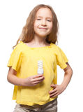 Child with lamp Stock Photography