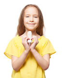 Child with lamp Stock Photos