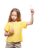 Child with lamp Royalty Free Stock Photo