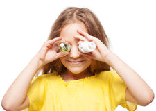 Child with lamp Stock Image