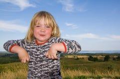 Child landscape funny Royalty Free Stock Image