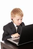 Child and laptop Stock Photos
