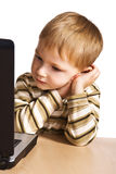 Child with laptop Stock Image