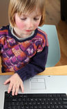 Child laptop working Stock Photos
