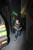 Child at a laser tag arena Royalty Free Stock Images