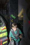 Child at a laser tag arena Stock Photos