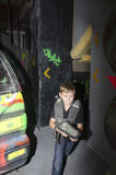 Child at a laser tag arena Stock Images