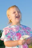 Child laughing. Stock Photos