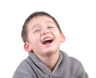 Child laughing Stock Photo