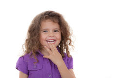 Child laughing,. Cute young girl child laughing and smiling Stock Images