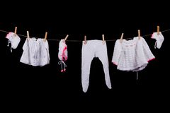 Child laundry Royalty Free Stock Images
