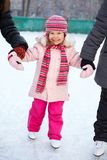 Child leaning skating Stock Photography