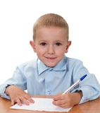Child learning Stock Photo