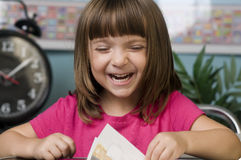 Child learning in classroom Stock Photos