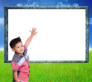 Child are learning Index on white background. Royalty Free Stock Photos