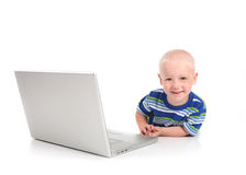 Child Learning on a Modern Computer Royalty Free Stock Photo