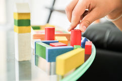 Child learning. Playing of extra curricular learning Royalty Free Stock Photography
