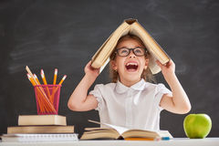Child is learning to read Stock Photo