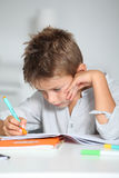 Child learning to write Royalty Free Stock Photography