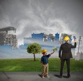 Child learns to improve world Stock Photo