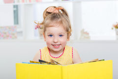 child learns to read Stock Photos