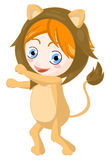 Child Leo. Zodiacal child Leo. Clipping path included Royalty Free Stock Photo