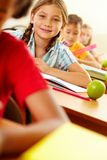 Child at lesson Stock Image