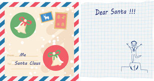 Child letter to Santa Claus Royalty Free Stock Image