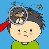 Image result for cartoon picture of head lice on a head