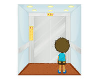 Child at the lift Royalty Free Stock Images