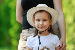 Child in a light hat Royalty Free Stock Photo