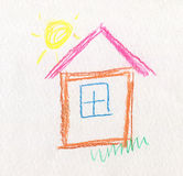 Child Like Drawing House Royalty Free Stock Photography