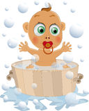 The child likes to wash. Soap  childhood clean Royalty Free Stock Images