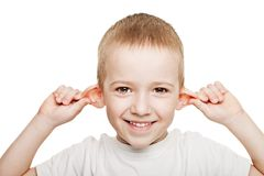Child listening Stock Image