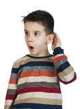 Child listening with ear Stock Photo
