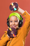 Child listening music Royalty Free Stock Images