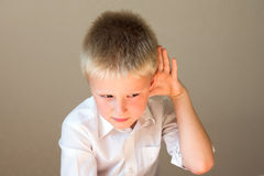 Child listening Royalty Free Stock Photography