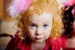 Child, a little beautiful girl Stock Images