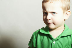 Child. Little Boy with Blue Eyes.Funny Kid Stock Image